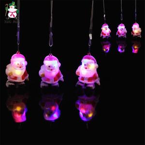Arrivées Christams Plastique Père Noël LED pendentif lumière Décorations Père Noël Figure Festival Parti Décoration LED Jouets