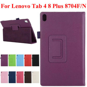 For Lenovo Tab 4 8 Plus TB-8704F N PU Leather Stand Flip Tablet Cover Case Skin