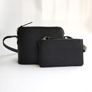 2pcs Satz Marken-Entwerfer-Frauen Kreuzschultertasche Umhängetasche Shell-Geldbörsen Fashion Messenger Bag Handtaschen 5 Farben