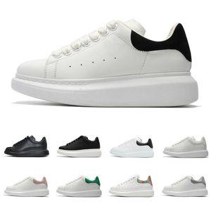 Cuero 2020 Mejor calidad del diseñador de zapatos de moda de lujo de las mujeres de los hombres de la plataforma con cordones de las zapatillas de deporte de gran tamaño Sole Zapatos Casual Blanco Negro