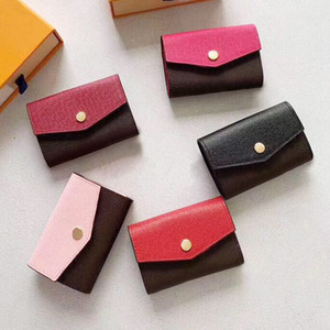 Wholesale designer card holder short wallet Fashion high quality original box coin purse women designer wallet classic zipper pocket