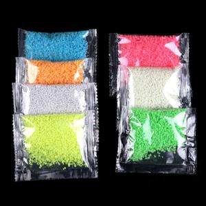 1bag Aydınlık Parçacık Glow Pigment Parlak Glow Kum Mavi Floresan Süper Glow In Dark Kum Oyuncak İçin DIY dileyerek Şişe