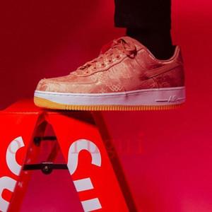 2020 hoch Clot x Silk Spiel Royale Blau Schwarz Rot Premium-PRM Low Erzwungene Schuhe Turnschuhe LaufAF107 Frauen Männer Sneakersc6ce #