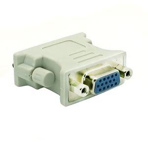 DVI all'ingrosso DVI-I Maschio 24 + 1 pin a VGA Femmina Video Converter Plug Adapter per DVD HDTV TV 300pcs D