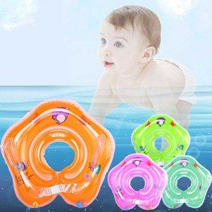 Anillo de la natación globo doble del niño recién nacido para niños Con protector de cuello anillo del flotador de los niños