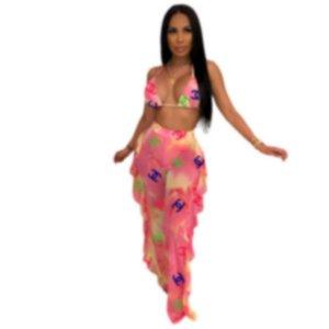 Diseñador de Las Mujeres 2 unids Bikini Establece Tankinis Halter Bra Underwears Briefs Trajes de Baño Bikinis Ropa de Verano y235