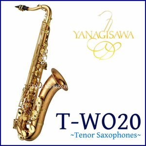 Hot Selling YANAGISAWA T-WO20 B B Tenor Saxophone B Flat Prass Lacquer Gold Musical instrument Professional With Case Free Shipping