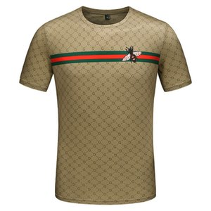 Algodón mercerizado de manga corta, manga corta para hombre, camiseta, cuello redondo, camiseta casual de algodón estampado para hombre.