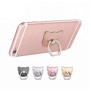 Universal Cat Finger Ring Back Holder With 360 Rotating Mount Lazy Buckle Stand for Samrt Phone