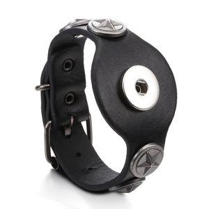 Bracciali in pelle Snap 18 millimetri bracciali Noosa Licantropia gioielli intercambiabili Nero Marrone di nuovo disegno a mano braccialetto del metallo registrabile
