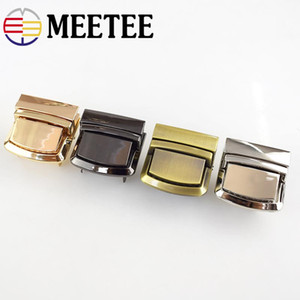 Meetee Metal Bag Snap Lock Handbag Clasps Closure Buckle DIY Purse Clasps Locks Button Bags Accessories Replacement Buckle AP388