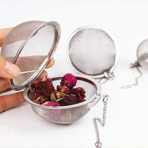 Tè dell'acciaio inossidabile Pot Infuser della sfera di bloccaggio Spice tè della sfera colino a maglia Infuser colino da tè Filtro infusor ZZA1828