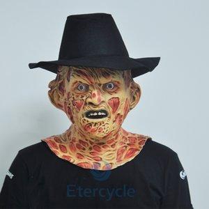 Grausigkeitschablone Freddy Krueger Halloween Masken cosplayen Erwachsene Partei Karneval schwelgen Wettbewerb Szene Brennpunkt und interessantes Geschenk