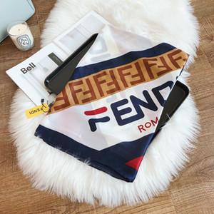 Seidenschal Für Frauen Hohe Qualität Womens Doppel F Brief Leopard gedruckt Pashmina Schals neueste Seidentücher Mode Kopftuch