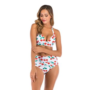 Bandera americana del golpeteo de las mujeres de baño bikini Set empuja hacia arriba el traje de baño bajo la cintura los bañadores de la playa del desgaste del juego de natación para las mujeres # 601