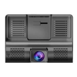 De alta calidad de 4 '' Tres DVR de la lente HD del coche Dash Cam Video Recorder grabación de bucle