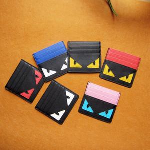 디자이너 카드 홀더 신용 카드 용 가죽 케이스 스푸핑 작은 몬스터 클립 은행 가방 카드 홀더 슈퍼 슬림 지갑을 4 개 스타일 망
