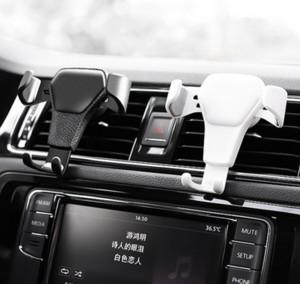 1 unid Universal Gravity Car Parabrisas Air Vent Outlet Clip Cradle Mount Holder Holder Stand Sticky Steady Para dispositivos móviles Teléfono móvil GPS