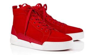 Высокое качество AURELIEN Red Bottom Shoes мужчины кроссовки спортивная обувь плоские замши тренеры открытый прогулки кроссовки тренеры день рождения свадебный подарок