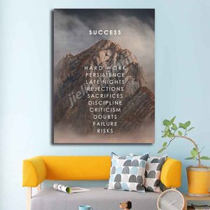 Climb To Success Motivational QuoteThe Bottom Art Canvas Poster Print Painting Abstract Wall Picture Modern Home Decoration