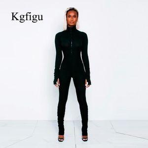 KGFIGU femmes noires longues de pantalons de femmes barboteuse long cou tortue Casual nervurées solide pantalon de tenues blanches et orange