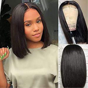 4x4 Lace Encerramento BoB linha reta perucas de cabelo brasileiro do cabelo Virgin Hetero Lace frontal humano perucas de cabelo Swiss Lace Wig frontal 9A Grade