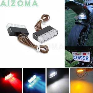 1 par Universal Motorcycle LED License Plate Luzes Mini Número Luz Traseira de Dirt Bike 12v diurnas Indicadores de luz de circulação