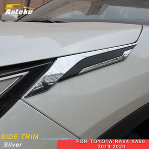For Toyota Rav4 Rav 4 XA50 2019 2020 Car Headlight Side Trim Protector Decors Cover Frame Sticker Exterior Accessories