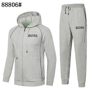 아시아 크기 M-3XL 가을 운동복의 경우 남성 최신 디자인 코트의 TopsPants 정장 패션 남성 후드 스웨터 지퍼 남성 의류