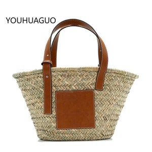 Praia Rattan Bag Mulheres New Bag Straw Bolsos Mujer De Marca Famosa 2020 Bolso Paja Bolsas de Luxo Elegante Bolso Playa de Designe