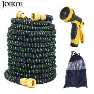 25FT-150FT Flexible Expandable Garden Water Magic Watering Car Washing Hose Pipe With Spray Gun T200530