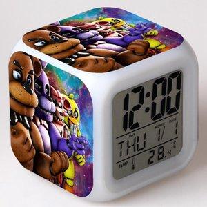 FNAF World Digital Alarm Clock Night Light LED 7 Color Change reloj despertador de cabeceira Five Nights at Freddy's Kids Watch
