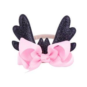 Buon Natale fascia Xmas infantile sveglio del bambino Deer Antlers Headwear dei capelli della fascia di danza Balletto di Multi-Colori regalo dei capretti Headbans