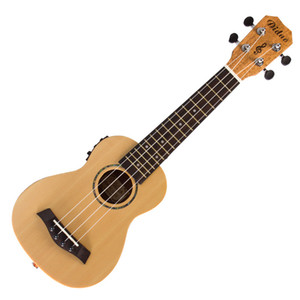 21'' EQ Electric Box Ukulele Wood Guitar Peach Cork 4 Strings Mini Guitar For Beginner Children And Students
