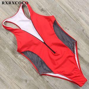 RXRXCOCO 2019 Sexy One Piece Swimsuit Mulheres Swimwear Feminino V Profundo Maiô Empurrar Para Cima Natação Bodysuits Monokinis Beachwear