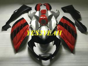 Kit de carrocería de carenado de motocicleta para BMW K1200S 05 06 07 08 K1200S 2005 2006 2007 2008 Carenado de plata roja Carrocerías + Regalos BA11