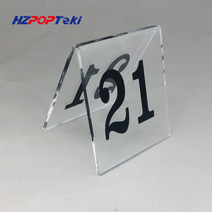 Plasttic Acrylic Restaurant Table Identification Notice Number Tags Stand A Type 1 to 60 Stock Available Red or Black 8x8cm