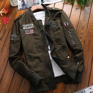 Autumn size looseuniform jacket casual tooling base suit ball washed cotton thin coat baseball suit coat men