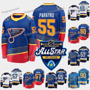 2020 All-Star Patch Jersey 55 Colton Parayko 57 Дэвид Perron 90 Ryan O'Reilly St. Louis Blues Mens Womens Youth Youth Custom Hockey Jerseys