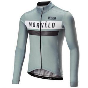 2018 복고풍 Morvelo 남자 사이클링 저지 긴 소매 저지 ROAP Ciclismo 자전거 의류 자전거 자전거 사이클 의류