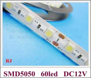 방수 IP44 5050 LED 스트립 조명 램프 LED 부드러운 조명 스트립 DC12V SMD5050 60 led / M 5M / 롤 에폭시 방수