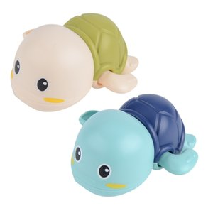 Recién Nacido de dibujos animados de alta calidad Piscina de aire tortuga juguetes clásicos Animal tortuga clásico juguete de baño infantil tortuga Swim cadena juguetes mecánicos