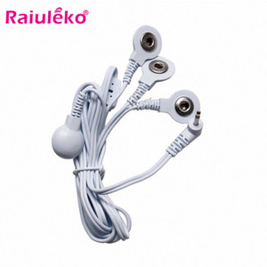Relaxation Treatments 1PC 4 Buttons Electrode Wires TENS Unit Lead Wires Cables for Tens EMS Standard 2.5mm Connection Massage Tools