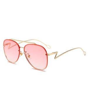 MINCL / Lunettes de soleil ovales Or Noir Rétro Rose Rouge Lunettes de soleil Femmes Miroir Luxe Lunettes de soleil rondes Mens Vintage UV400 NX