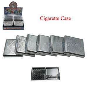 20 PCS Stainless Steel Cigarette Case Cigarettes Smoke Holder Stainless Steel Tobacco Storage Case Box Free Shipping MP109