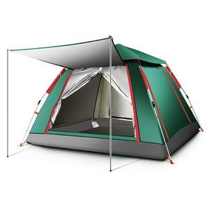3-4 Kişi Otomatik Çadır Su geçirmez Kamp Yürüyüş Çadır Açık Geniş Aile Çadır Taşınabilir Karşıtı UV Çok amaçlı keoghs