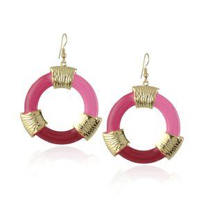 Milli tarzı daire renk Earrings eardrop süsler