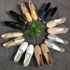 2020 nuevo estilo de hecho a mano ocasional de las mujeres zapato con malla zapatillas Alpargatas Pescador Ladys plana Slip-en los zapatos de charol 35-41