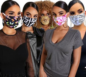 Designer Design Face Masks Protective Mask ultraviolet-proof Dustproof Riding Cycling Sports Print Mouth Masks Men And Women Outdoor 24Style