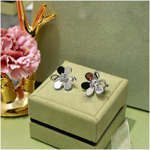 Flower Earrings Clover Temperament Lady Earrings Dance Party High-end Quality Luxury Fashion Eardrop Luxury Designer Jewelry for Women